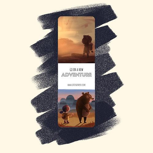 7. 'Traveler' & 'Shy Bear' bookmark