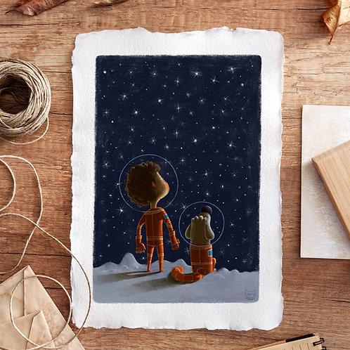 Friends in Space A4 print