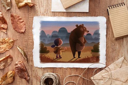 'A shy bear' A5