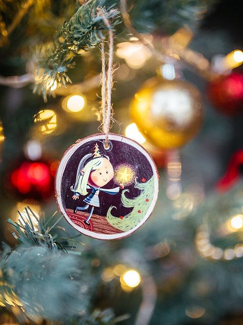 Christmas Girl - Log Slice