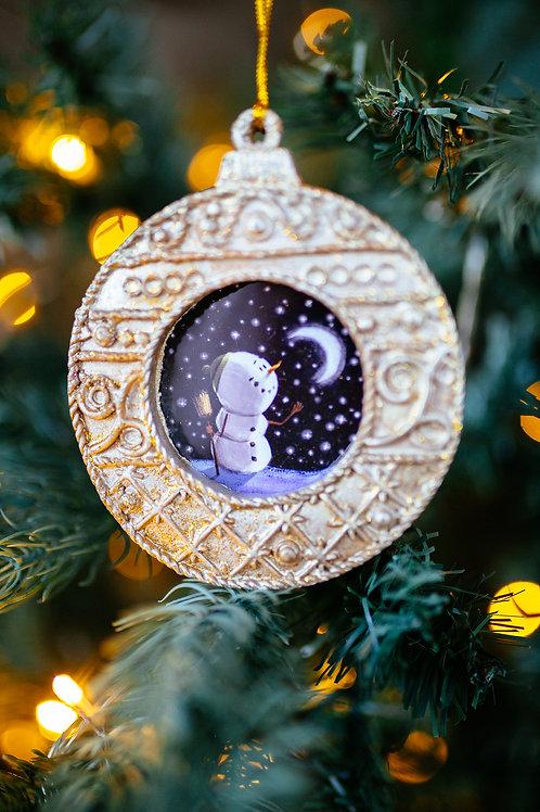 Christmas Tree Frame - SnowMan