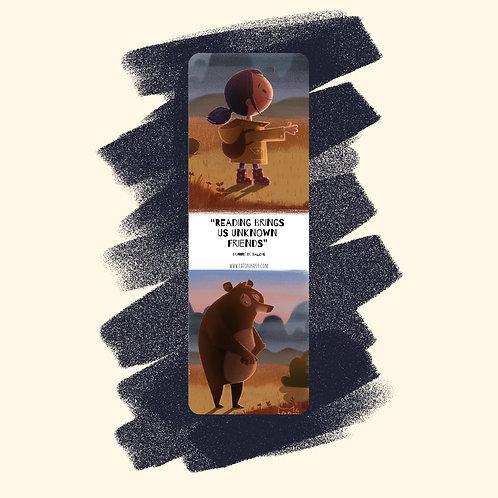 4. 'Shy Bear' Bookmark