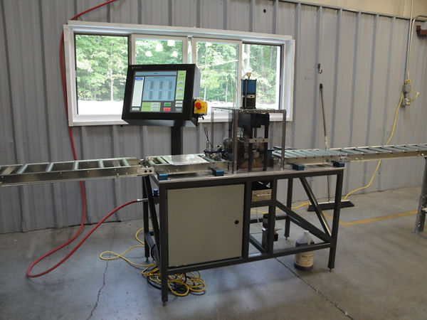 A custom extrusion punching machine