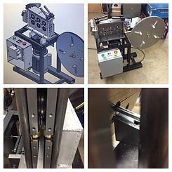 Custom automated metal strip roll forming machine.