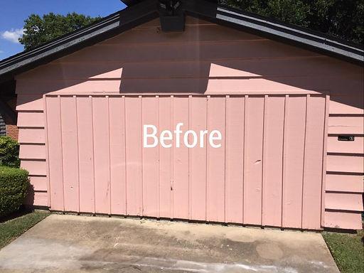 Joe's Painting Garage Before