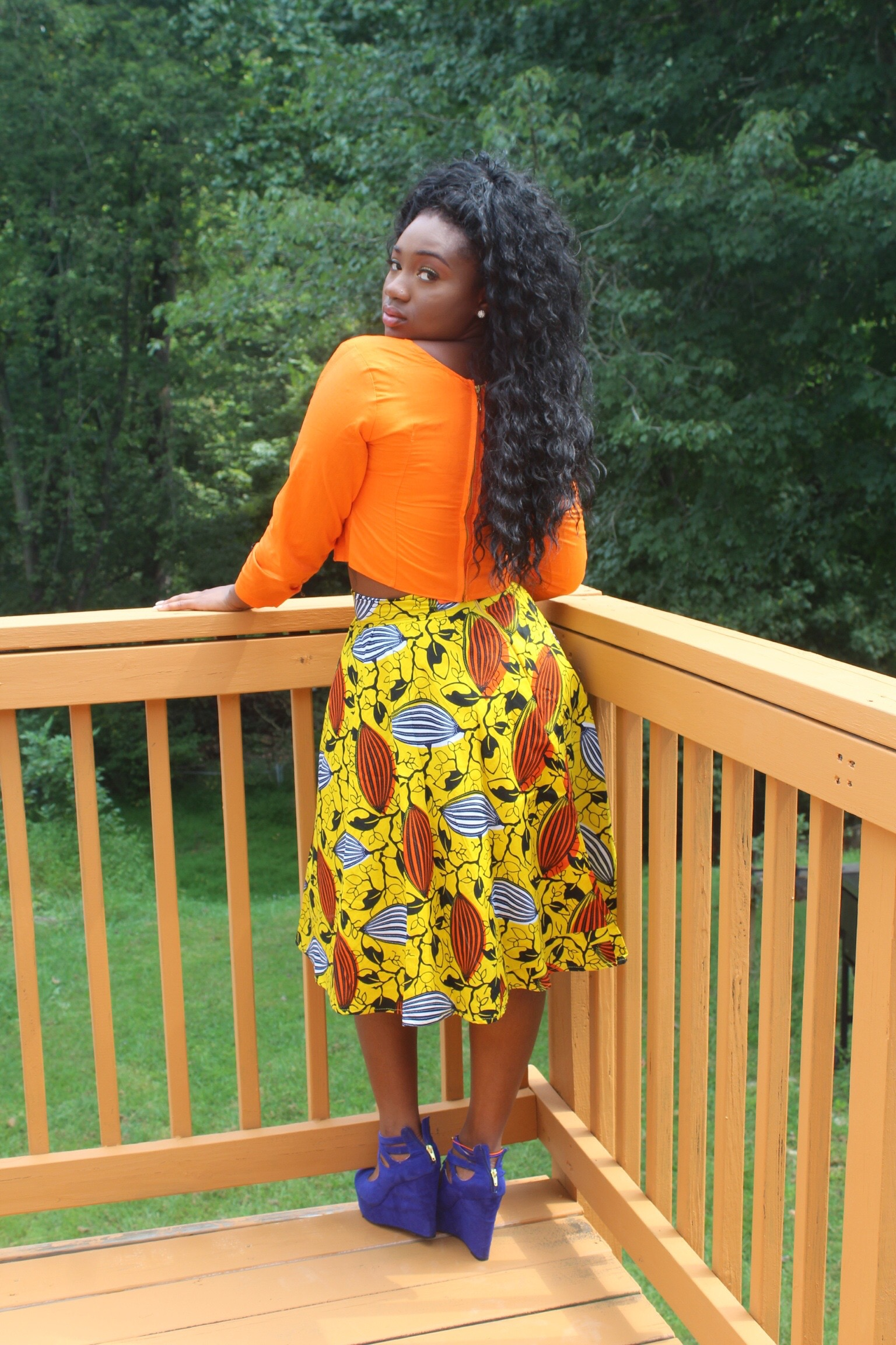Midi Skirt with Matching Crop Top