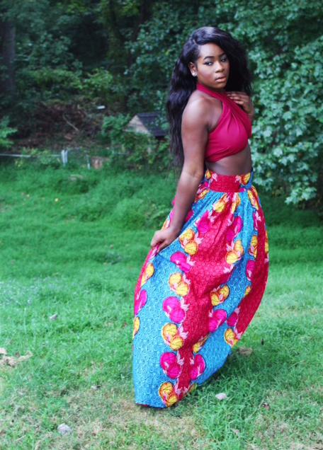 Maxi Skirt with Matching Crop Top