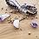 Thumbnail: Single Leather Wrap Crystal Bracelet