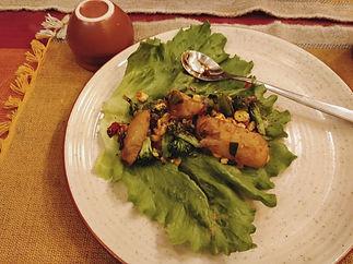 Dinner at Avabodha - Fresh Letuce Salad
