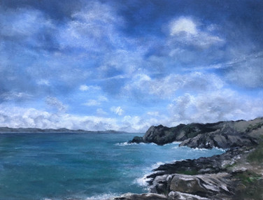 Salcombe Bay - Original Acrylic Painting