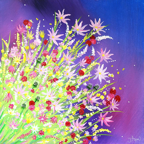 Purple Bouquet - 10 x 10 inch Print