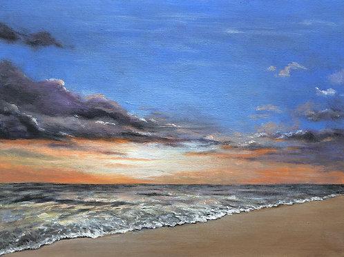 Seashore at Sunset - Original Painting