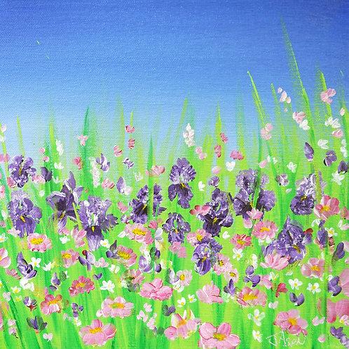 Iris Illusion - 10 x 10 inch Print