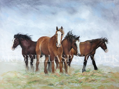 Windswept Horses - Limited Edition Print