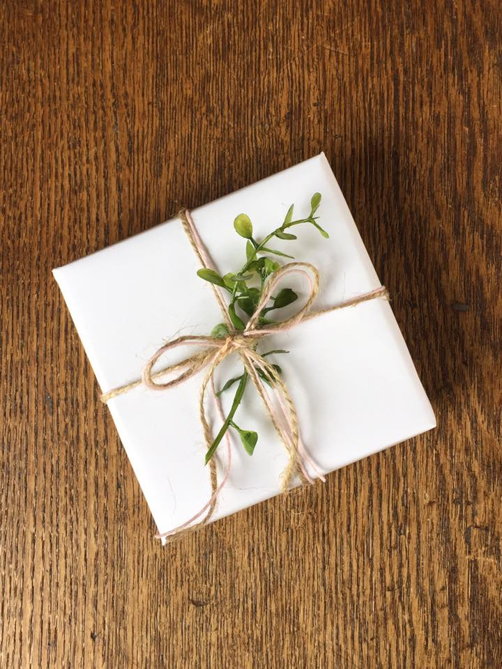 mustard seed gift wrap