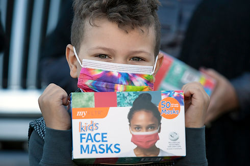 Kid Holding Box of masks