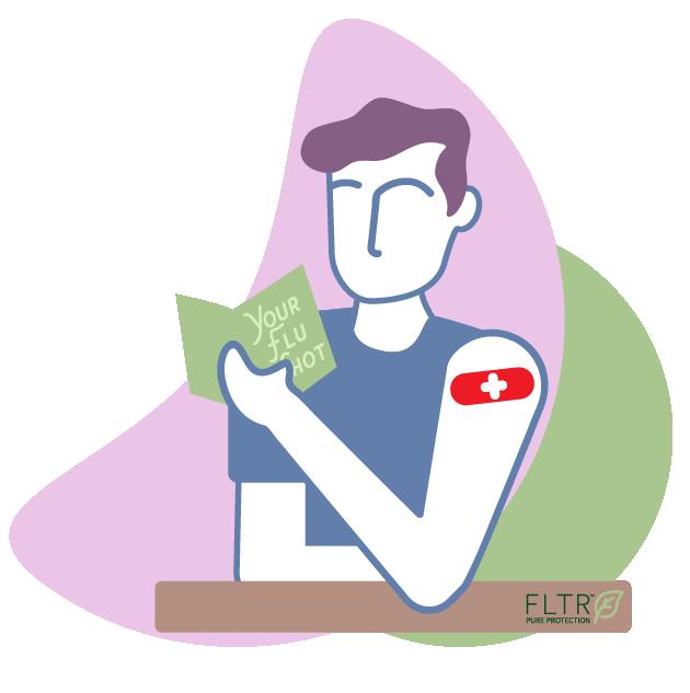 Your Flu Shot Person Illustration