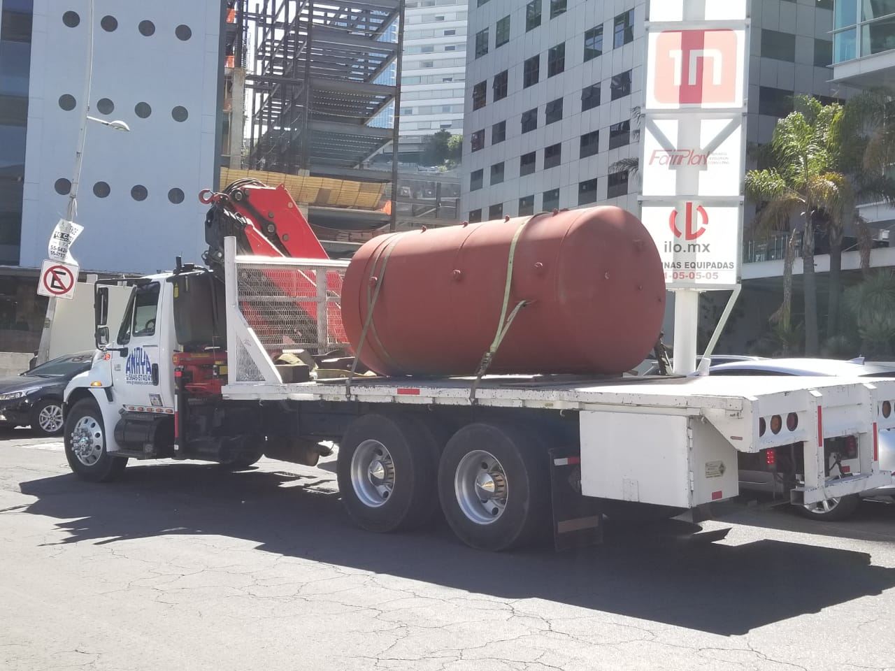 Transporte tanque DHW