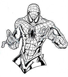 Spiderman Colouring In Page