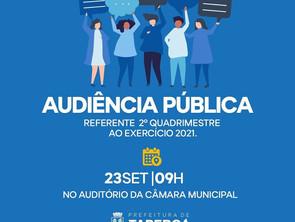 TAPEROÁ: Prefeitura realiza Audiência Pública do 2º Quadrimestre de 2021