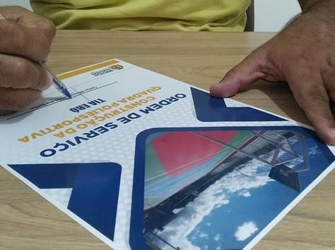 Prefeito de WG assina ordem de serviço para construção de Quadra Poliesportiva no Cocão