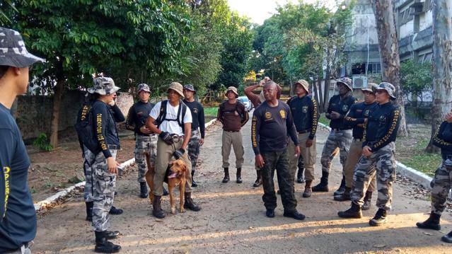 Cães das forças da SSP reforçam técnicas de mantrailing