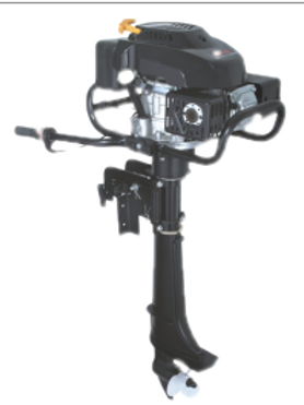 AquaLine® 6hp Outboard Motor 4-Stroke Air Cooled
