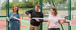 Opening of tennis courts