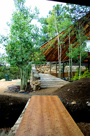 04 MCM Stone Entrance Ramp up to Library