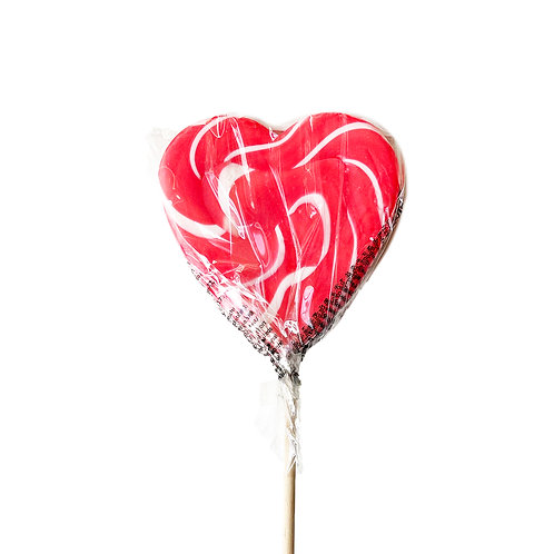 Lolly Heart Spiral Red-White