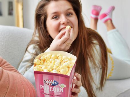 Bioscoopsfeer in huis met Jimmy's Popcorn!
