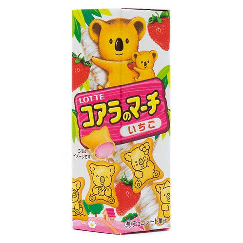Lotte Koala Strawberry Cookies