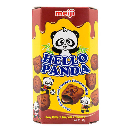 Meji Hello Panda Cocoa Biscuits
