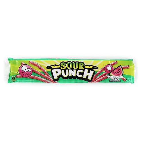 Sour Punch Watermelon Straws