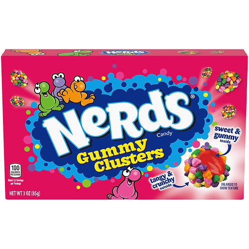 Nerds Gummy Clusters theatre box