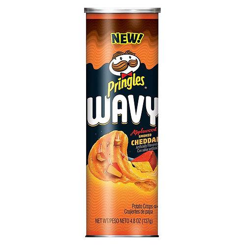 Pringles Wavy Applewood Smoked Cheddar