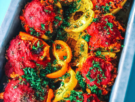 Paleo Italian stuffed peppers