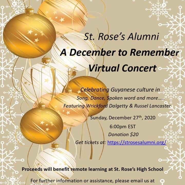 St. Rose's Alumni (US Chapter) Virtual Concert Event