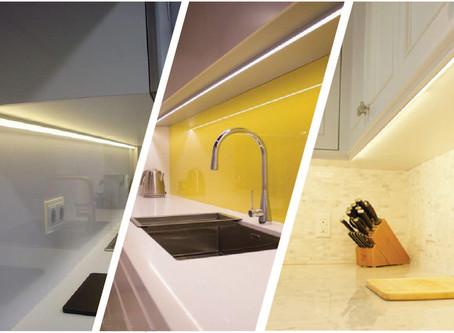 Under Cupboard LEDs. Back, Front or Centre?