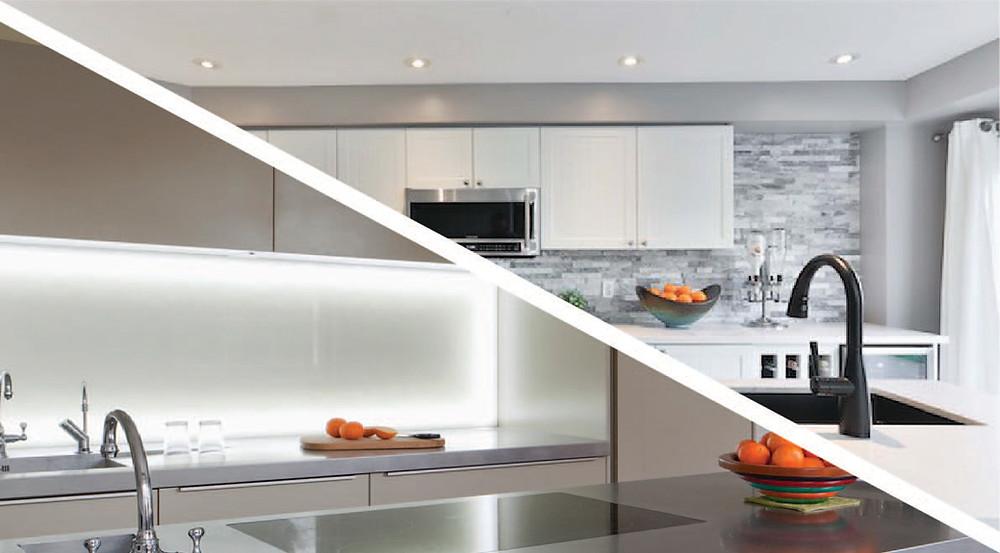 linear LED Vs downlights comparison