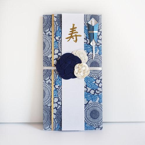 ご祝儀袋 梅(紺×銀)