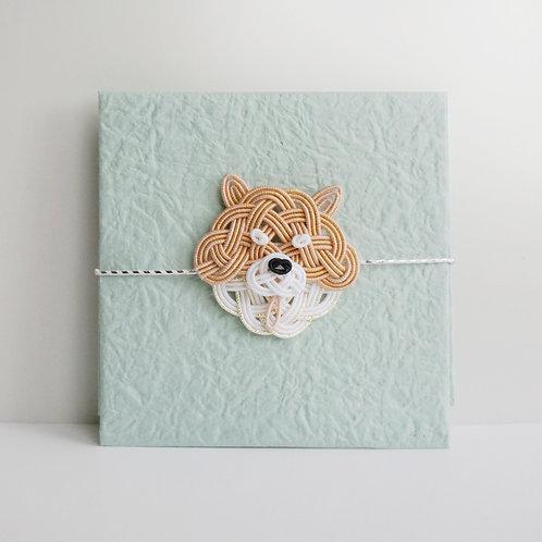 ぽち袋 柴犬(赤ラメ)