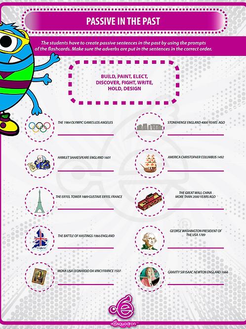 Interactive Worksheet PDF to practice Passive voice.