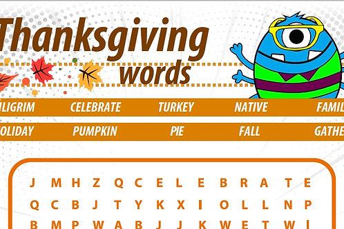 CrossWord: Thanksgiving