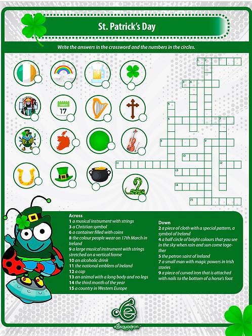 St Patrick's day worksheet crossword