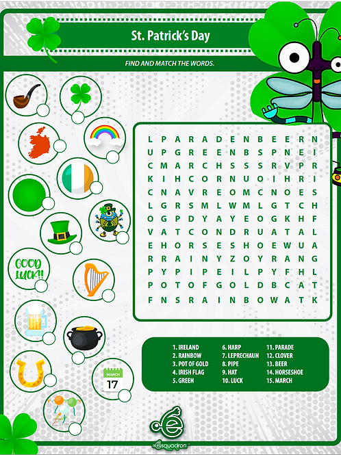 St Patricks worksheet