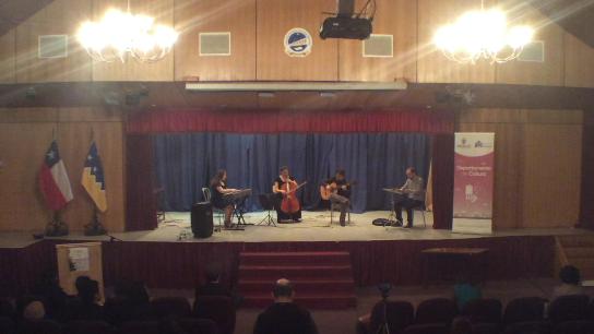 concierto ensamble Liceo Politecnico Luis Cruz Martinez Natales 2
