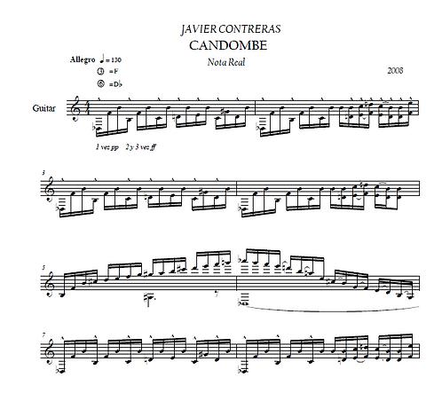 Candombe (Nota real y Scordatura)