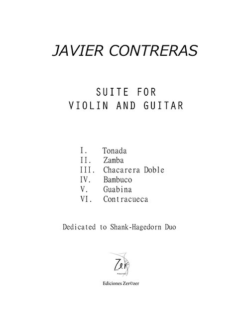 Suite for violin and guitar