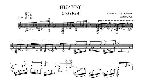 Huayno (Nota real y Scrodatura)